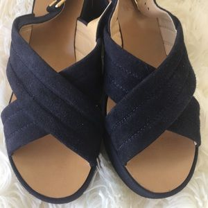 J. Crew suede wedges. Size 6.5❤️